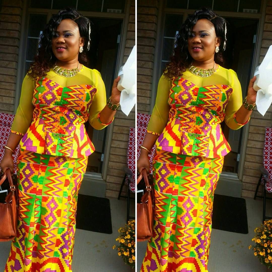 Kente Queen Ghana On Instagram Something Different For A Naming Ceremony All White Is Old News Congratulati African Fashion Skirts Kente Styles Kente Dress
