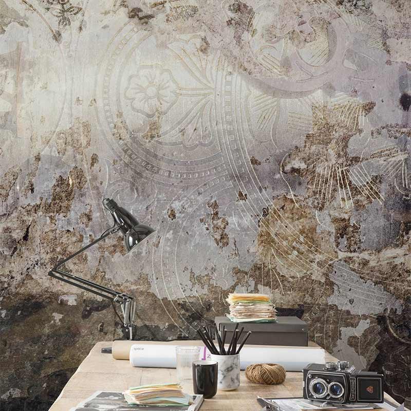 papier peint effet vieux mur papier