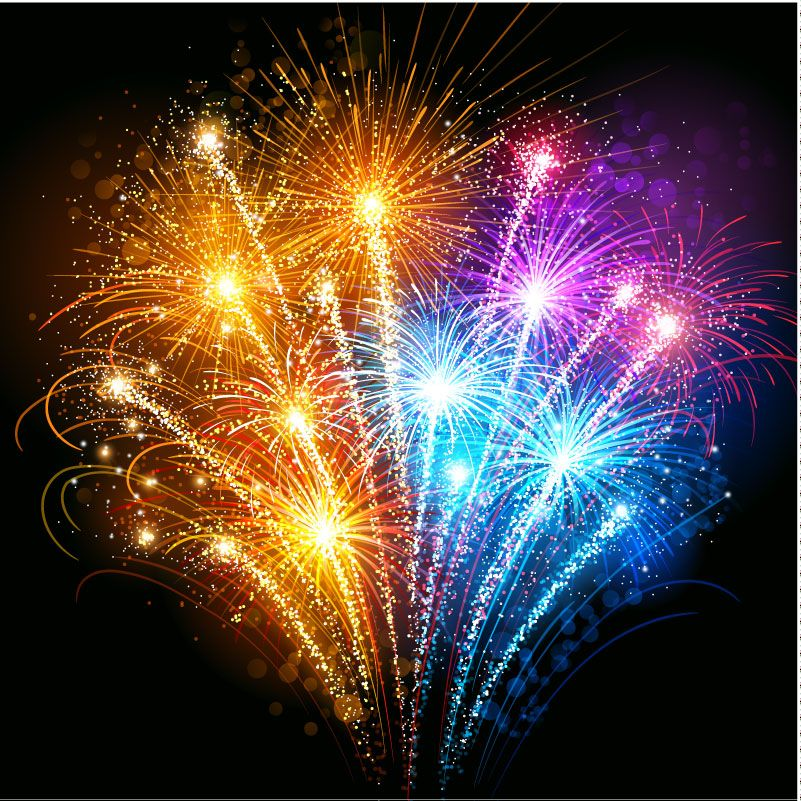 gorgeous fireworks background vector free vector graphic download