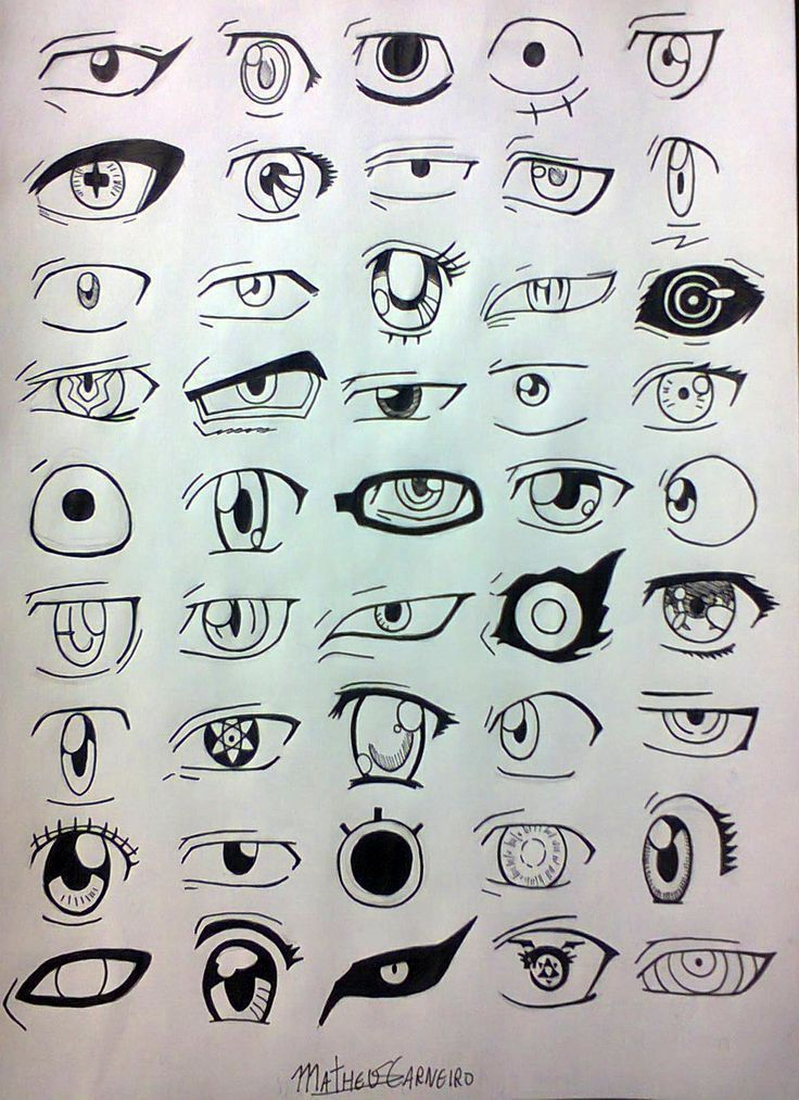 Manga, anime, eyes, 45 designs, in order to improve your drawing, drawings - ... - - #anime #Augen