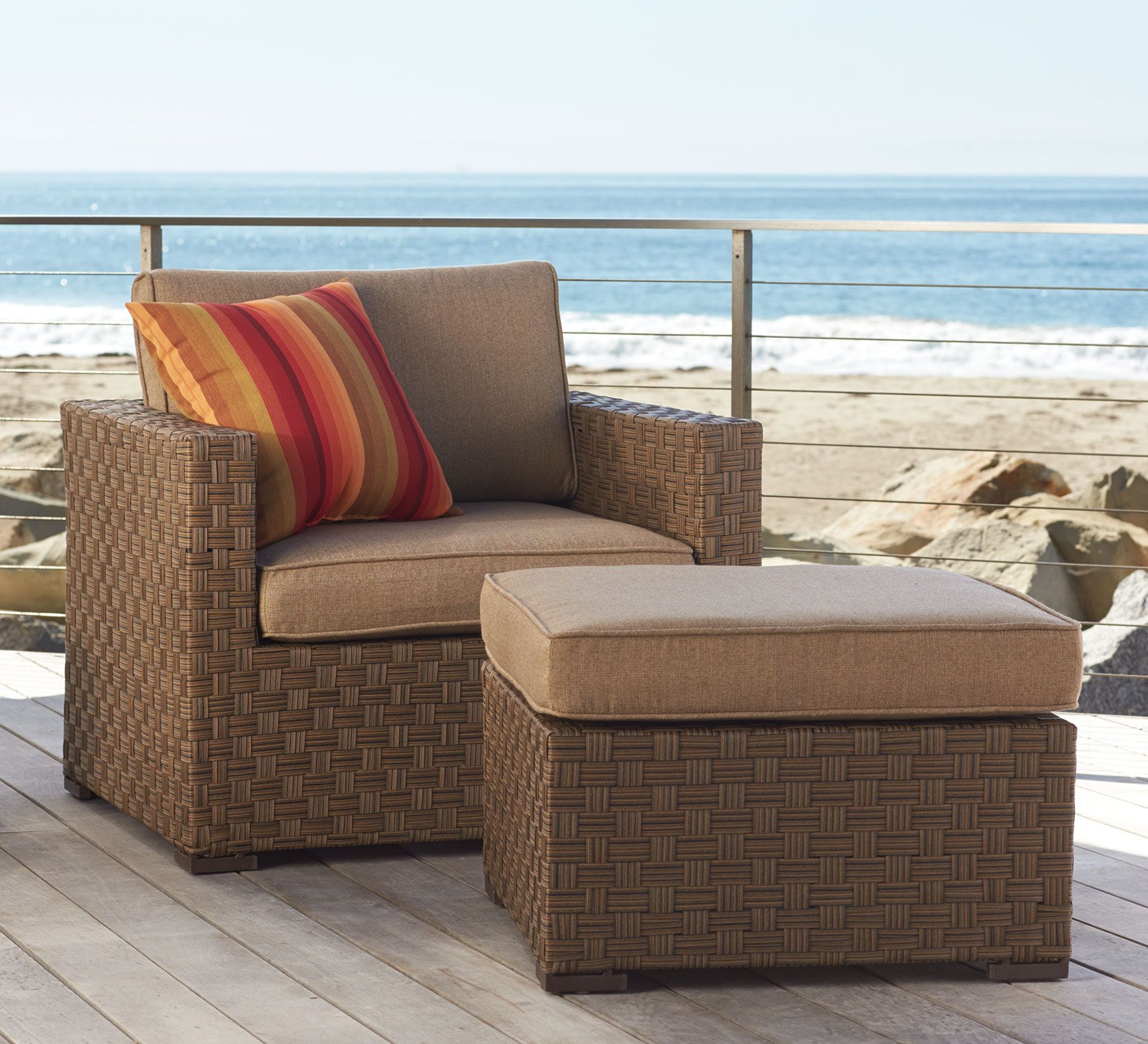 You Donu0027t Need To Live At The Beach To Enjoy Seaside Luxury. The Attractive  All Weather Wicker Barcelona Sectional And Tables Sold @ Orchard Supply.