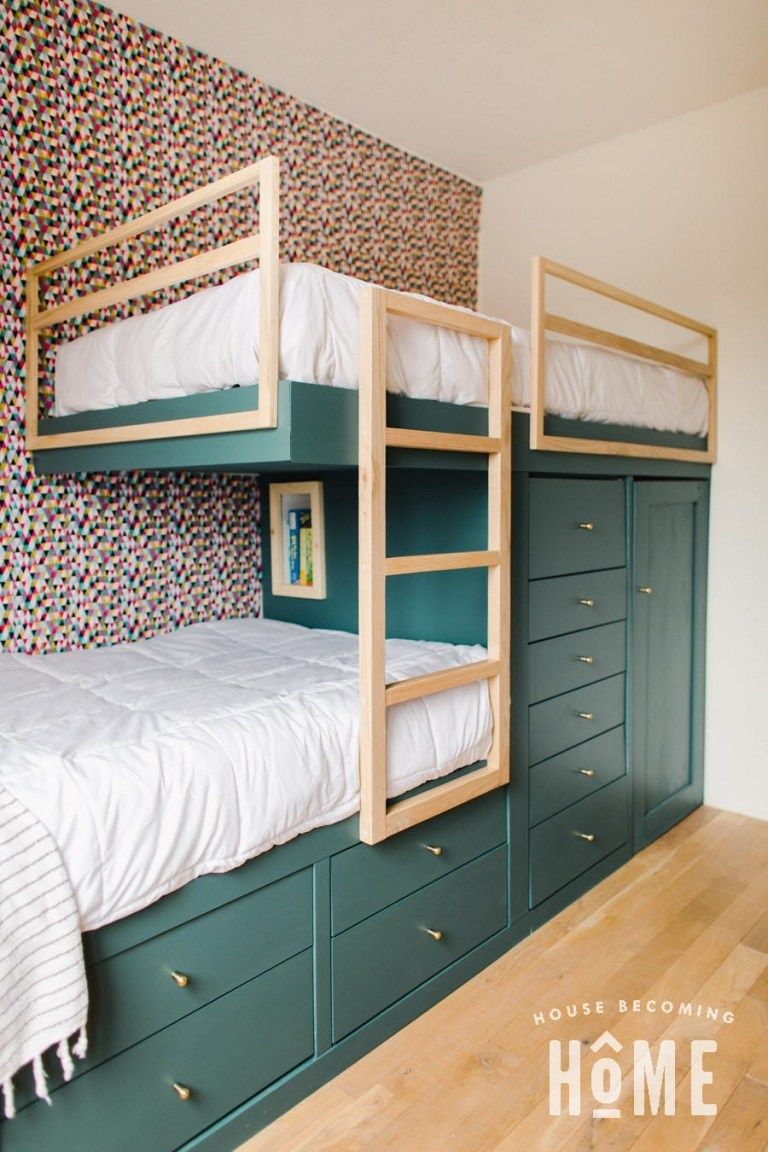 Offset Built-In Bunk Beds - House Becoming Home