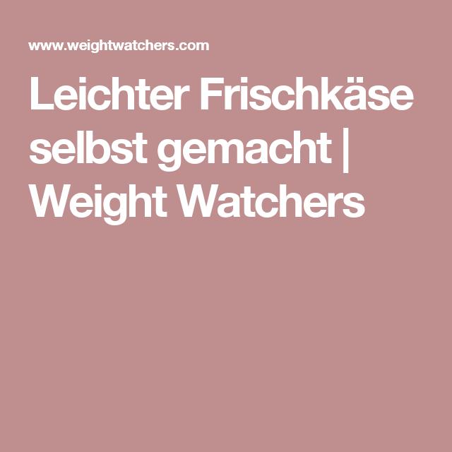 Leichter Frischkäse selbst gemacht   Weight Watchers