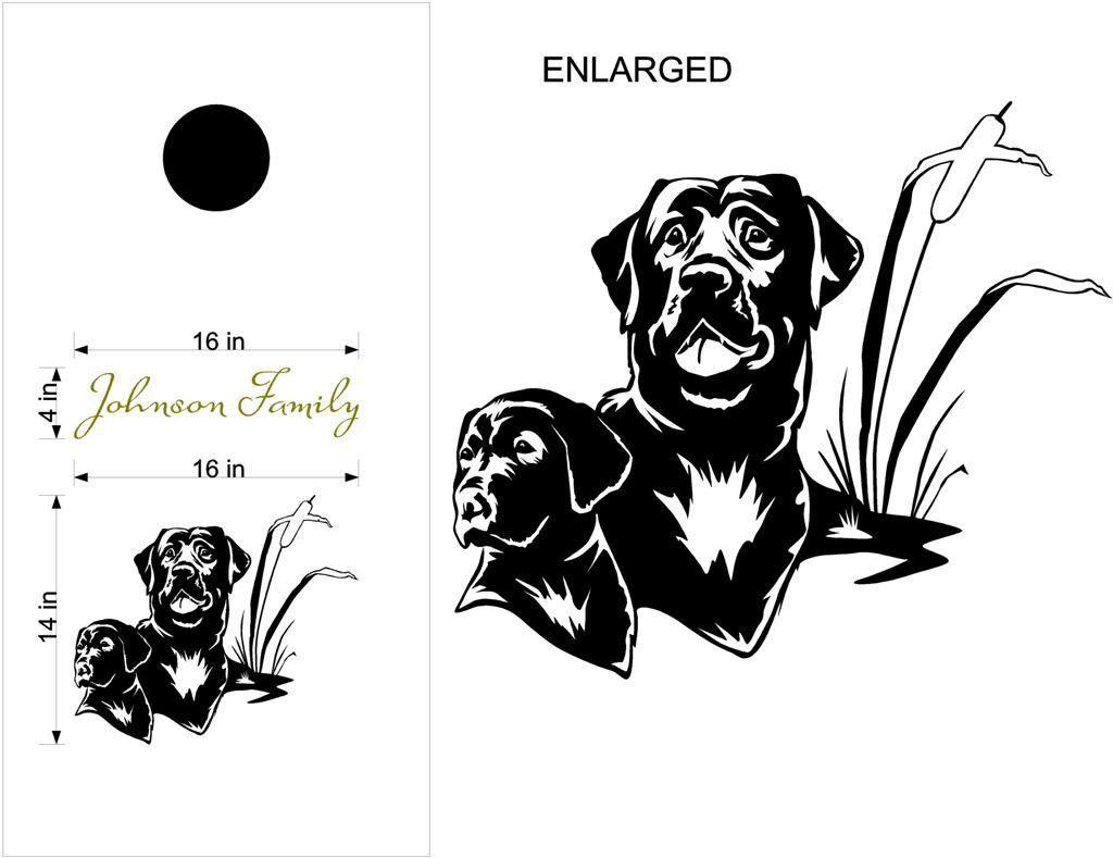 Dog Labrador Retriever Cornhole Board Vinyl Decal Sticker