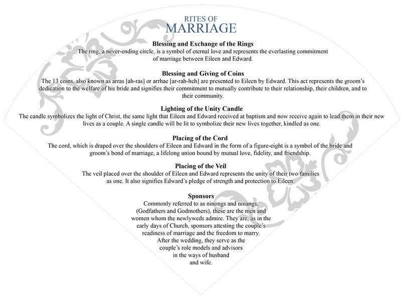 Philippine Program Wedding Ceremony