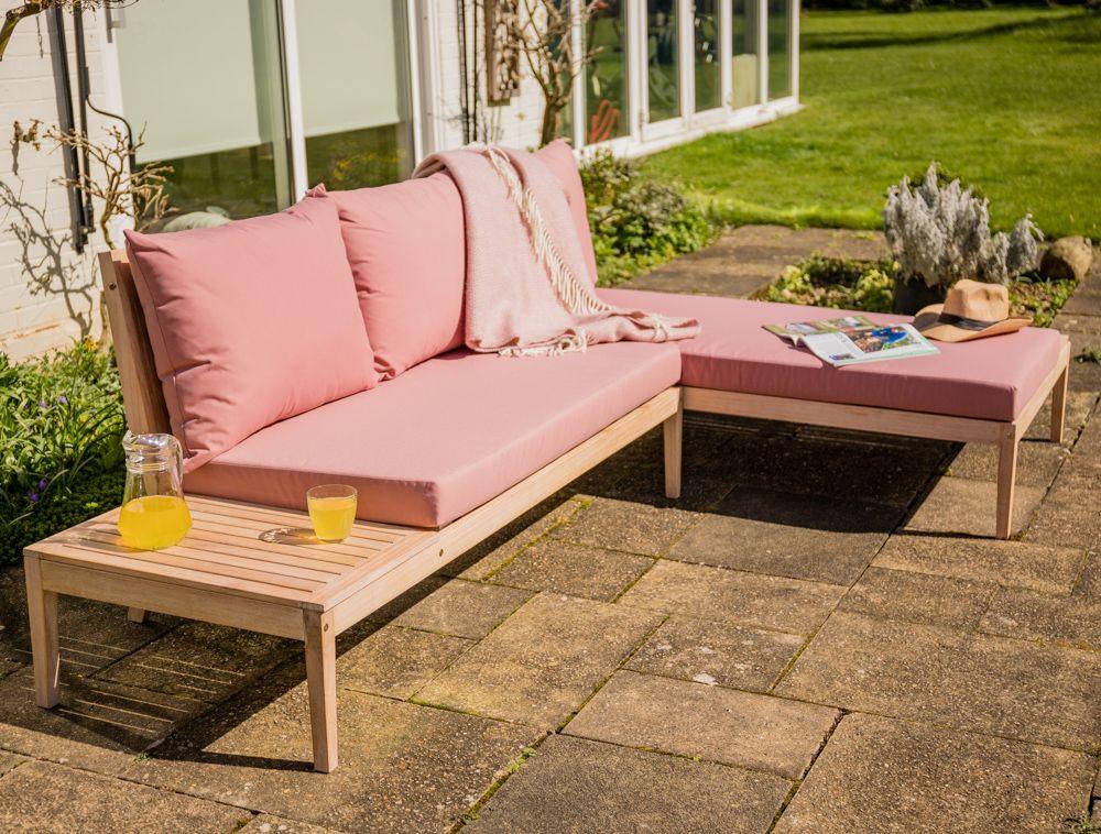 Wareham Wooden Garden Sofa Corner Platform Set   By Liz ...