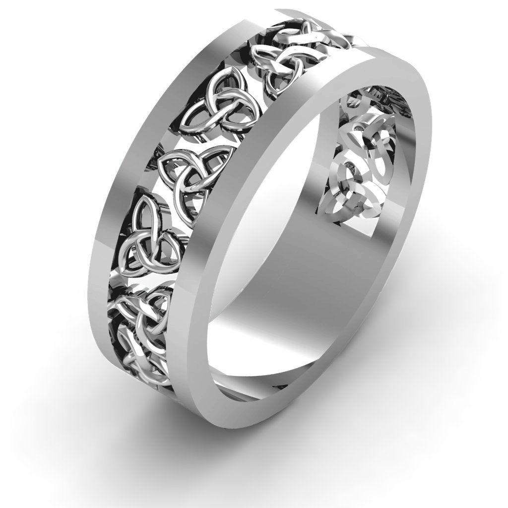 Celtic wreath mens couples ring rings for men celtic
