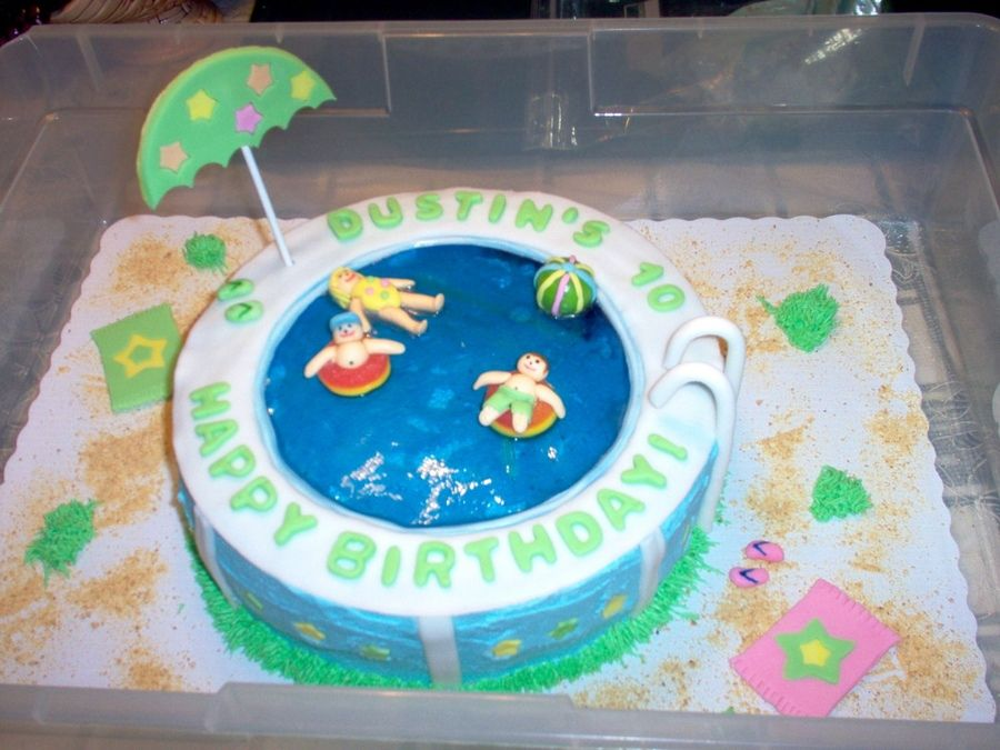 Awesome Swimming Pool Cake Ideas Wilton Pool Party Cakes Decoration Funny Birthday Cards Online Inifodamsfinfo