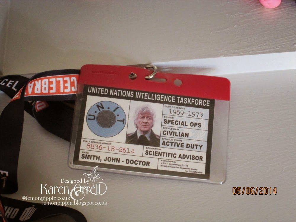 Unit Id Card As Could Have Been Used By Doctor   Doctor Who
