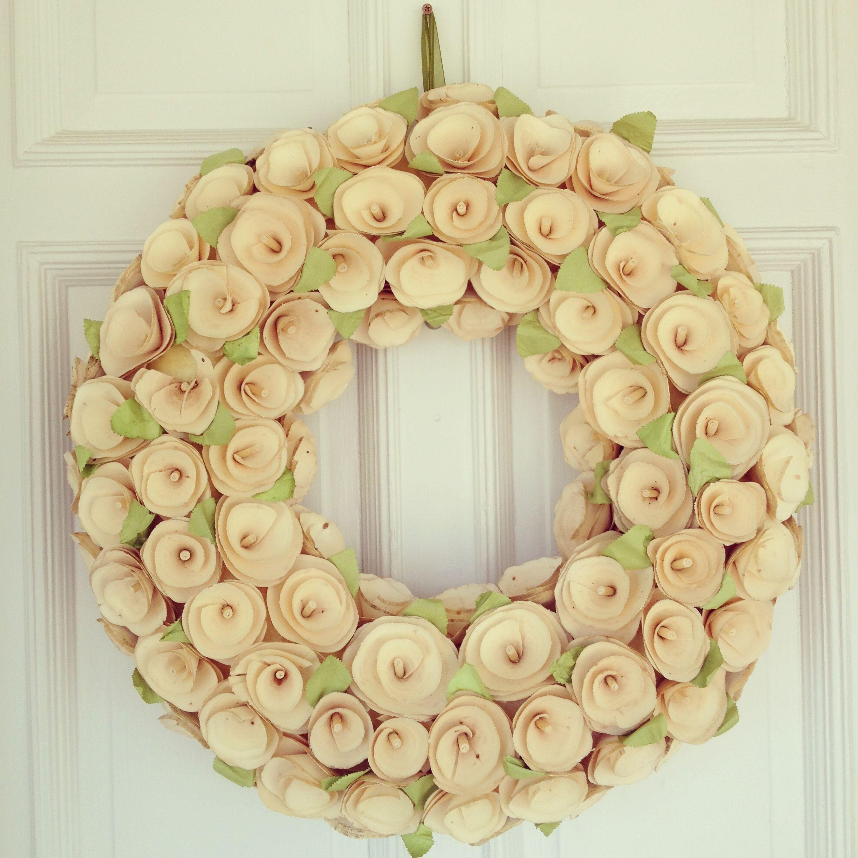 wooden wreath from target! | home + living | Pinterest | Wooden ...