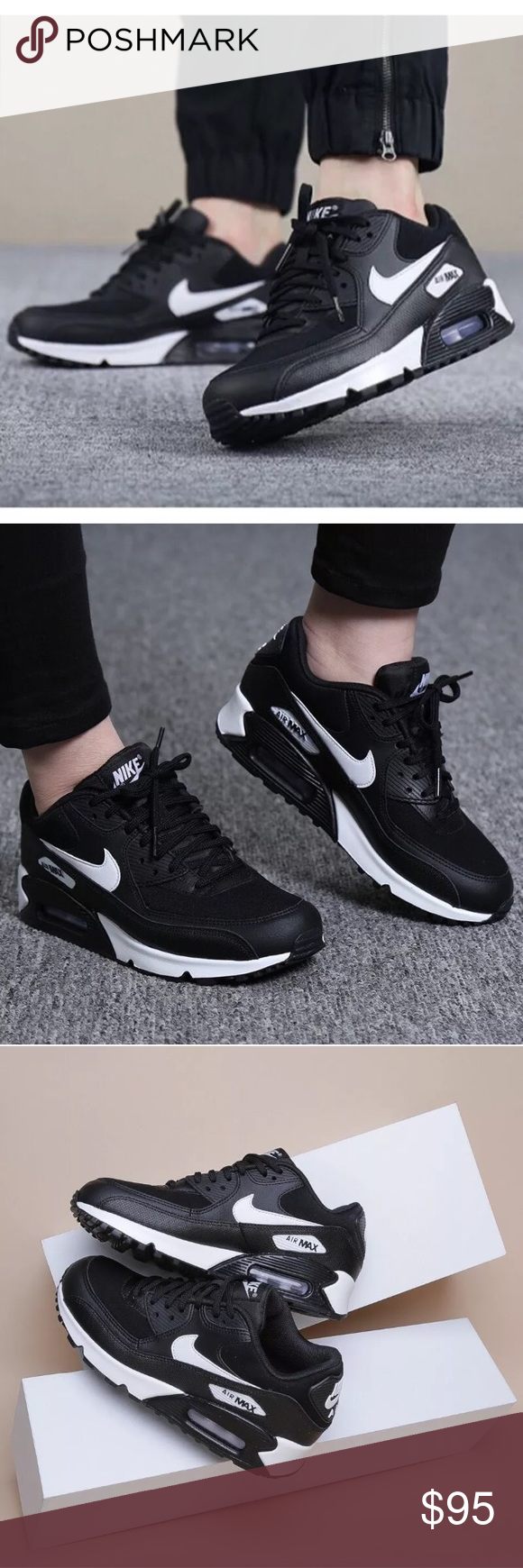 White Sneakers | Nike air max 90 black