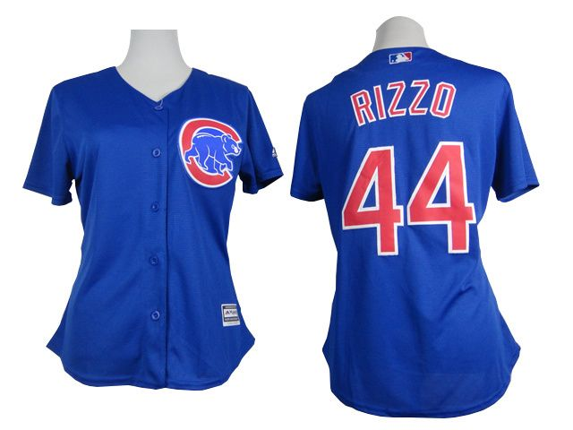 new style bde7f ee10c Cubs #44 Anthony Rizzo Blue Alternate Women's Stitched ...