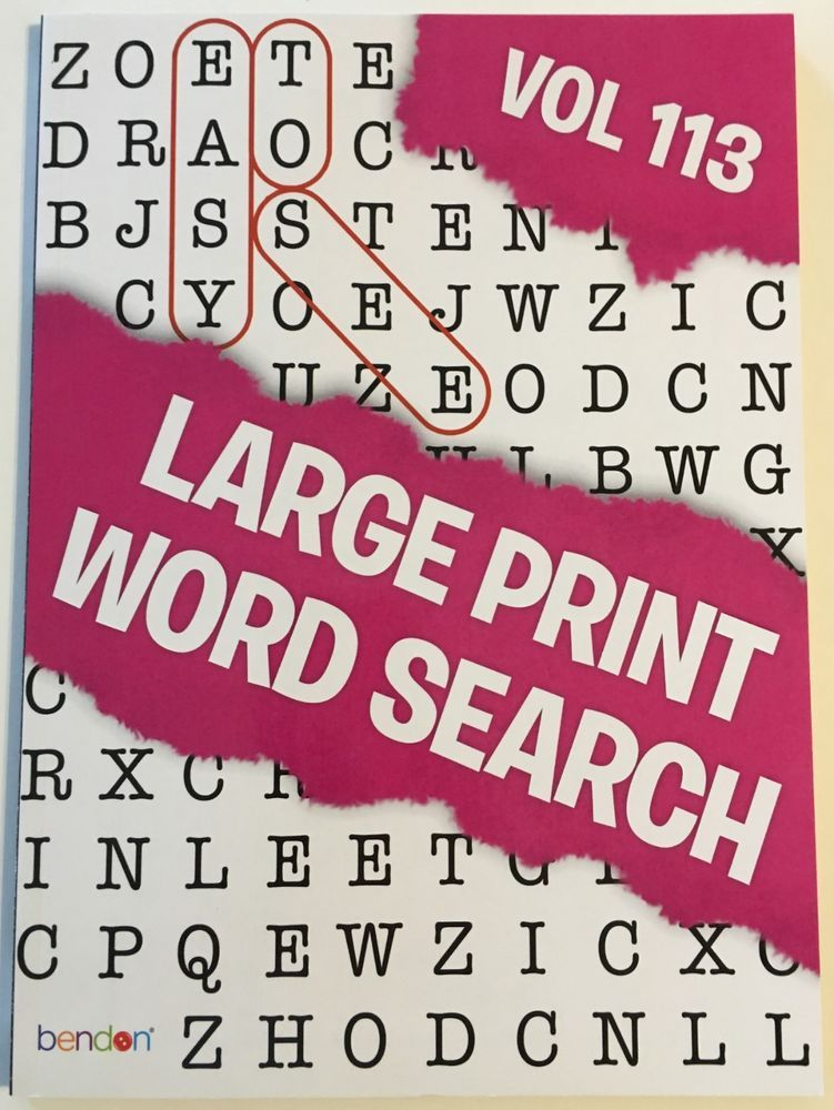 LARGE PRINT Word Search Puzzle Book - Word Finds Volume 113 Word Find,  Puzzle Books, Word Search Puzzle