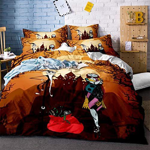 BKasals 3D Halloween Bedding Set Skull Bedding Set Christmas Bedding