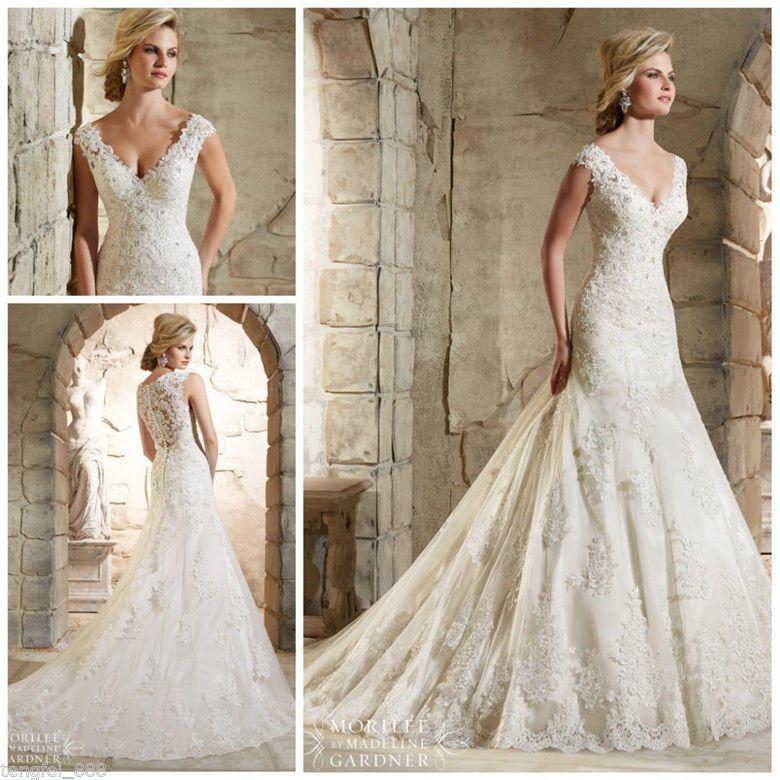 2016 Branco Marfim Vestido de noiva vestido de casamento tamanho: 4 6 8 10 12 14 16 18+ + +