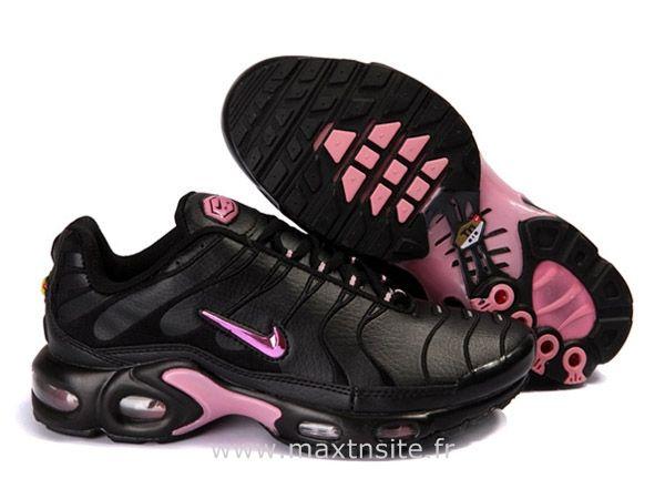 timeless design f36f3 94725 Chaussures de Nike Air Max Tn Requin Femme Noir et Rose Tn Requin Cher