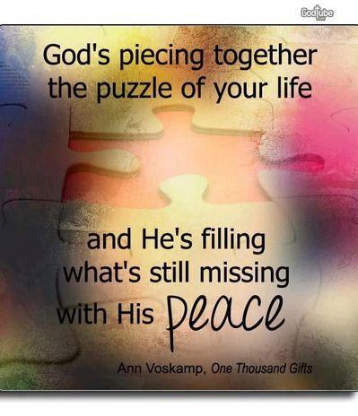 Keep calm and trust God. :)