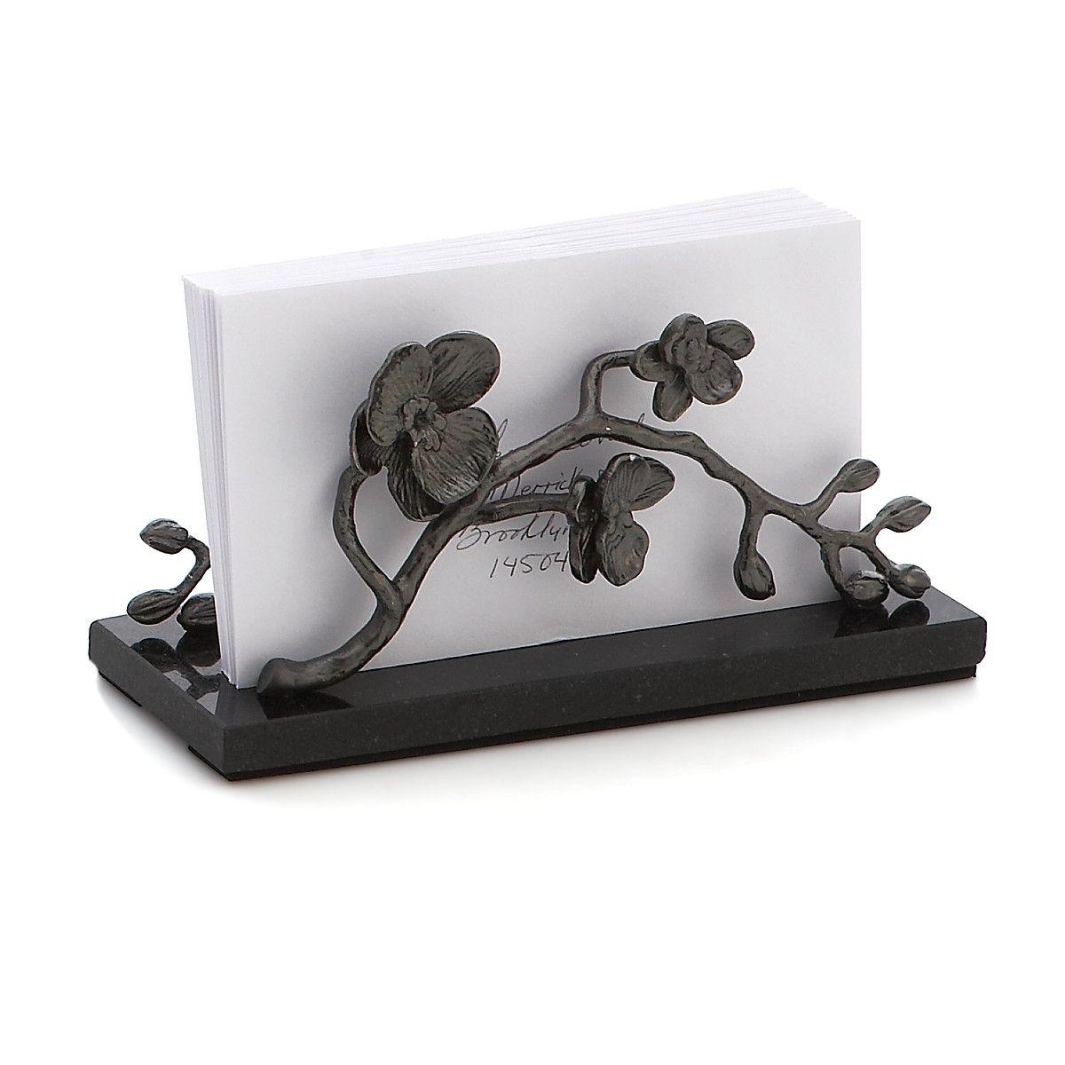 Michael Aram Black Orchid Vertical Napkin Holder | Bloomingdale\'s ...