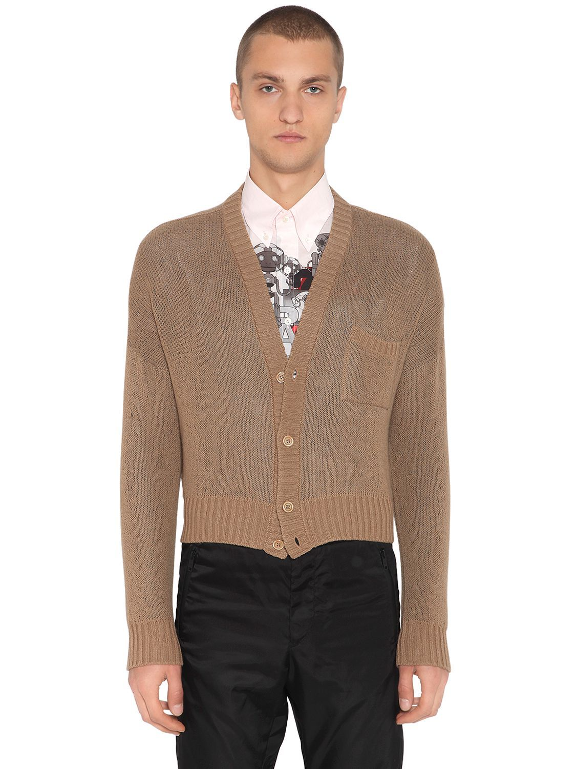 654e9bf1835 PRADA DOUBLE CASHMERE KNIT CARDIGAN.  prada  cloth