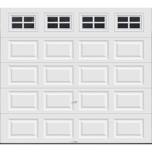 Ideal Door Stockton 9 Ft X 8 Ft 5 Star White Raised Pnl Insul Ez Set Garage Door At Menards Ideal Do Garage Doors White Garage Doors Garage Door Design