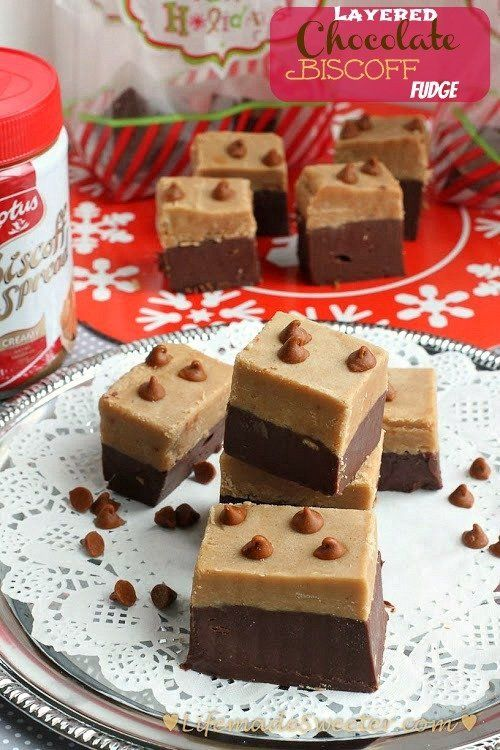 Easy Layered Chocolate Almond Biscoff Fudge With Cinnamon Chips By Life Made Sweeter Peanut Butter Fudge Easy Fudge Recipes Chocolate Fudge Sauce