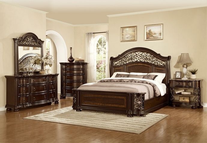 Walker Edison Furniture Company Queen Size Rustic Brown Industrial Wood And Metal Bed Hdqawrw The Home Depot Bed Frame And Headboard Bed Furniture Furniture