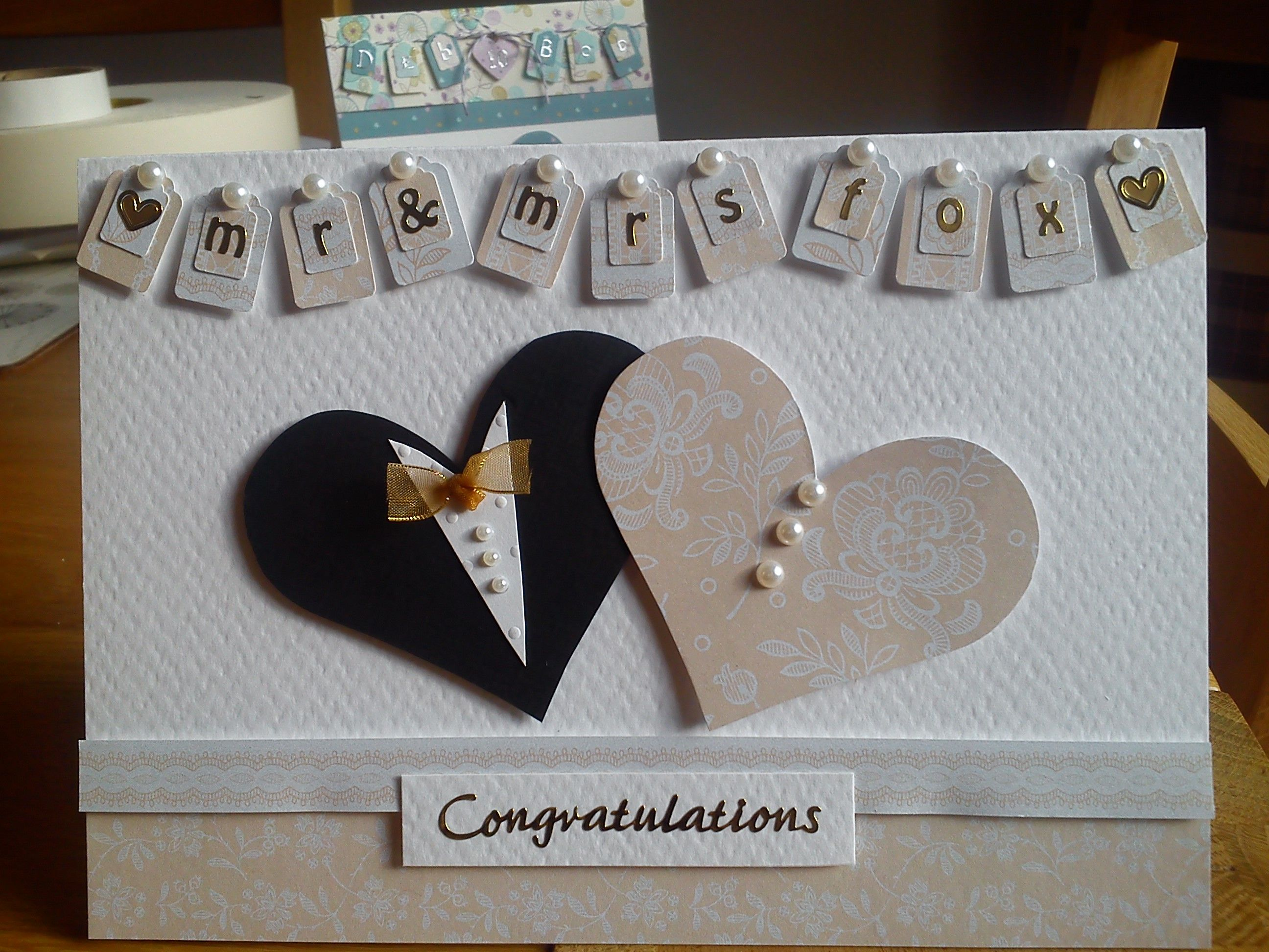 Personalised handmade wedding card I made for a friend | Cards ...