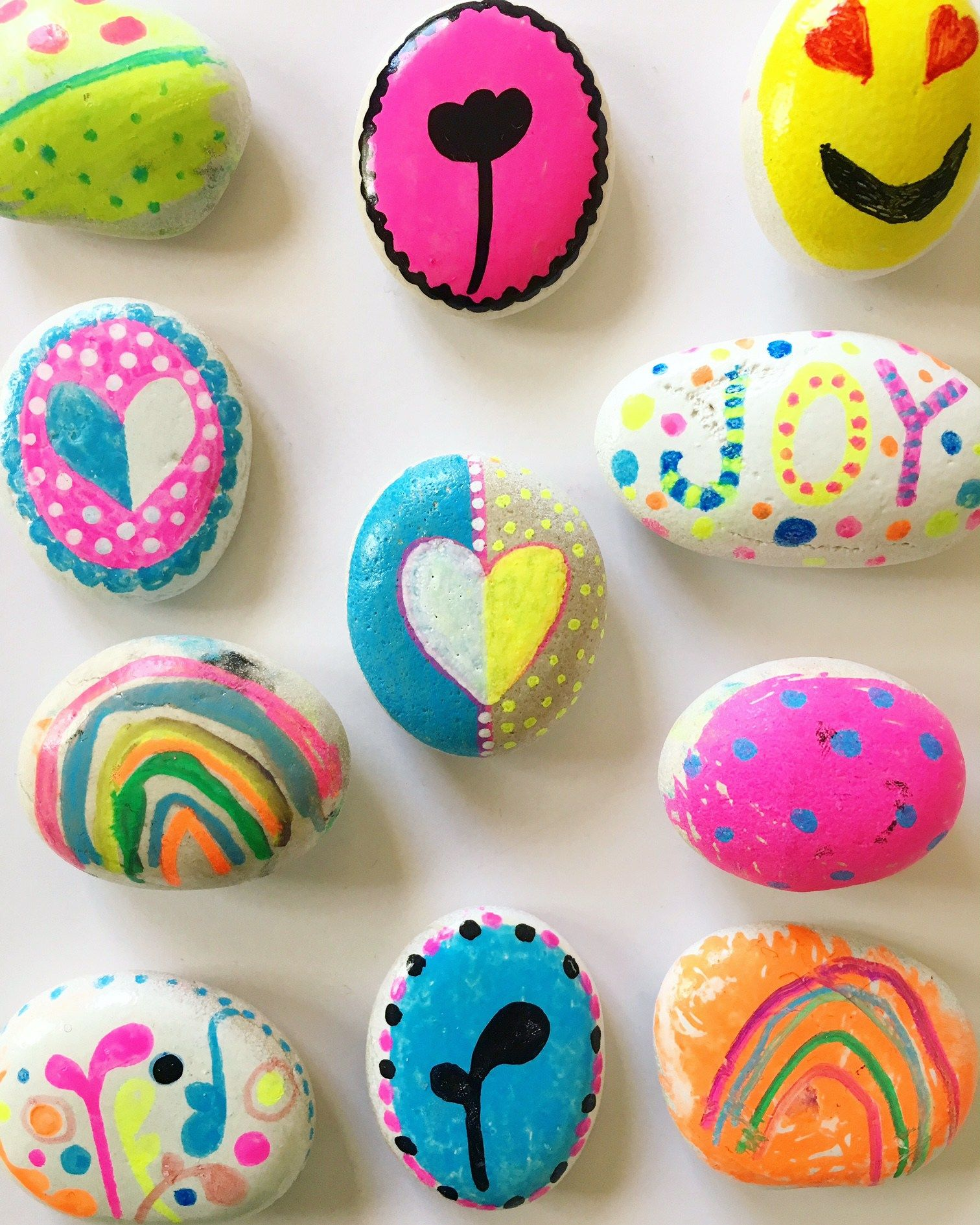 Painted Rock Design Ideas: Rock Painting Ideas For Kids