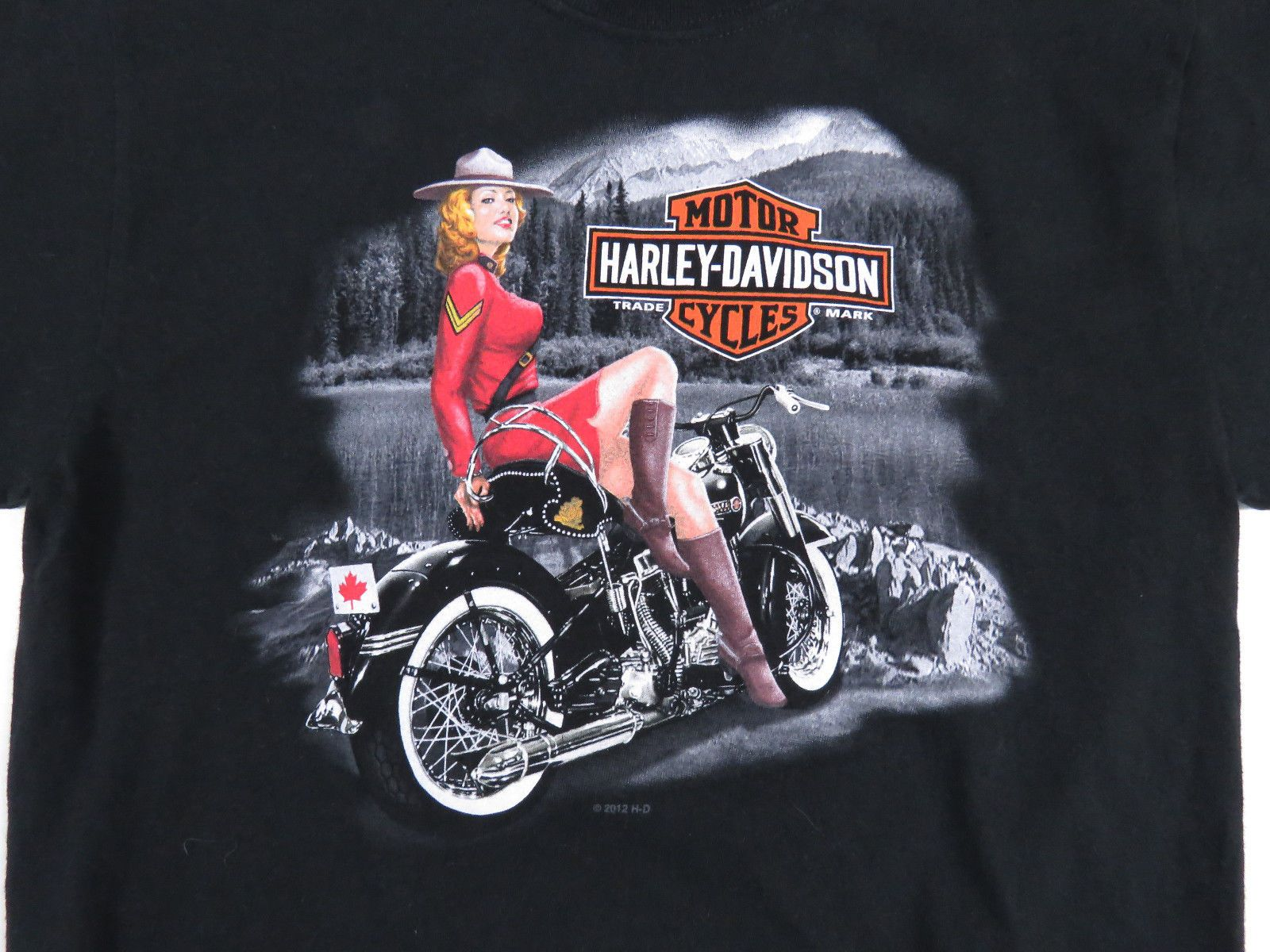 Harley Davidson Motorcycles Canada Double Sided Short Sleeve T Shirt Biker S Harley Davidson Motorcycles Harley Harley Davidson Shirt