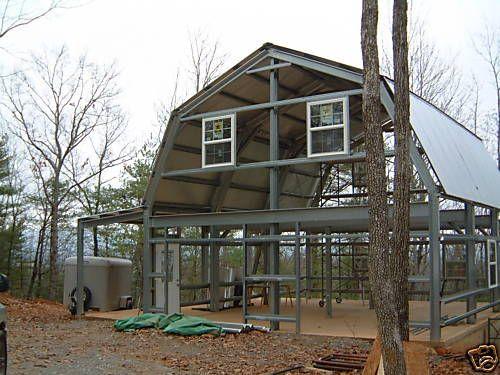 Steel Gambrel Home Building Shell Kit 2 Floor 1800 Sq Ft Steel Building Homes Building A House Barn Style House
