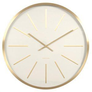 Karlsson Maxiemus Large Wall Clock 60cm White With Brass Gold Wall Clock Modern Wall Clock Design Large Wall Clock