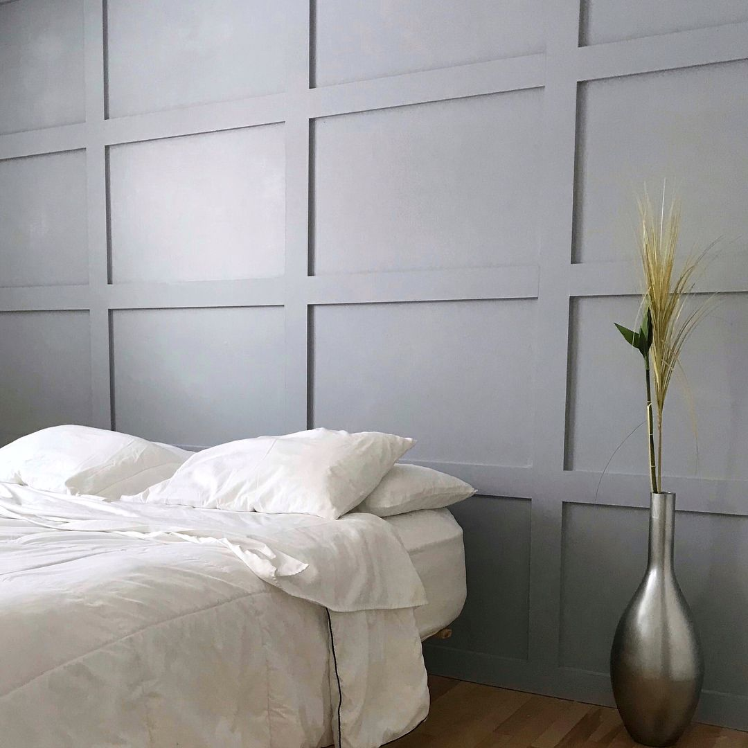 Diy Bedroom Accent Panel Wall Using Mdf Board For Under 30 Wall Panels Bedroom Mdf Wall Panels Bedroom Diy