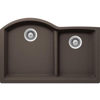 Buy Here: http://thd.co/1RydfD9 SCHOCK EDO EDON175YU063 Undermount Composite 33 in. 0-Hole 70/30 Double Bowl Kitchen Sink in Mocha #kitchensink #kitchensinks #kitchen #sinks #schock #granitesink