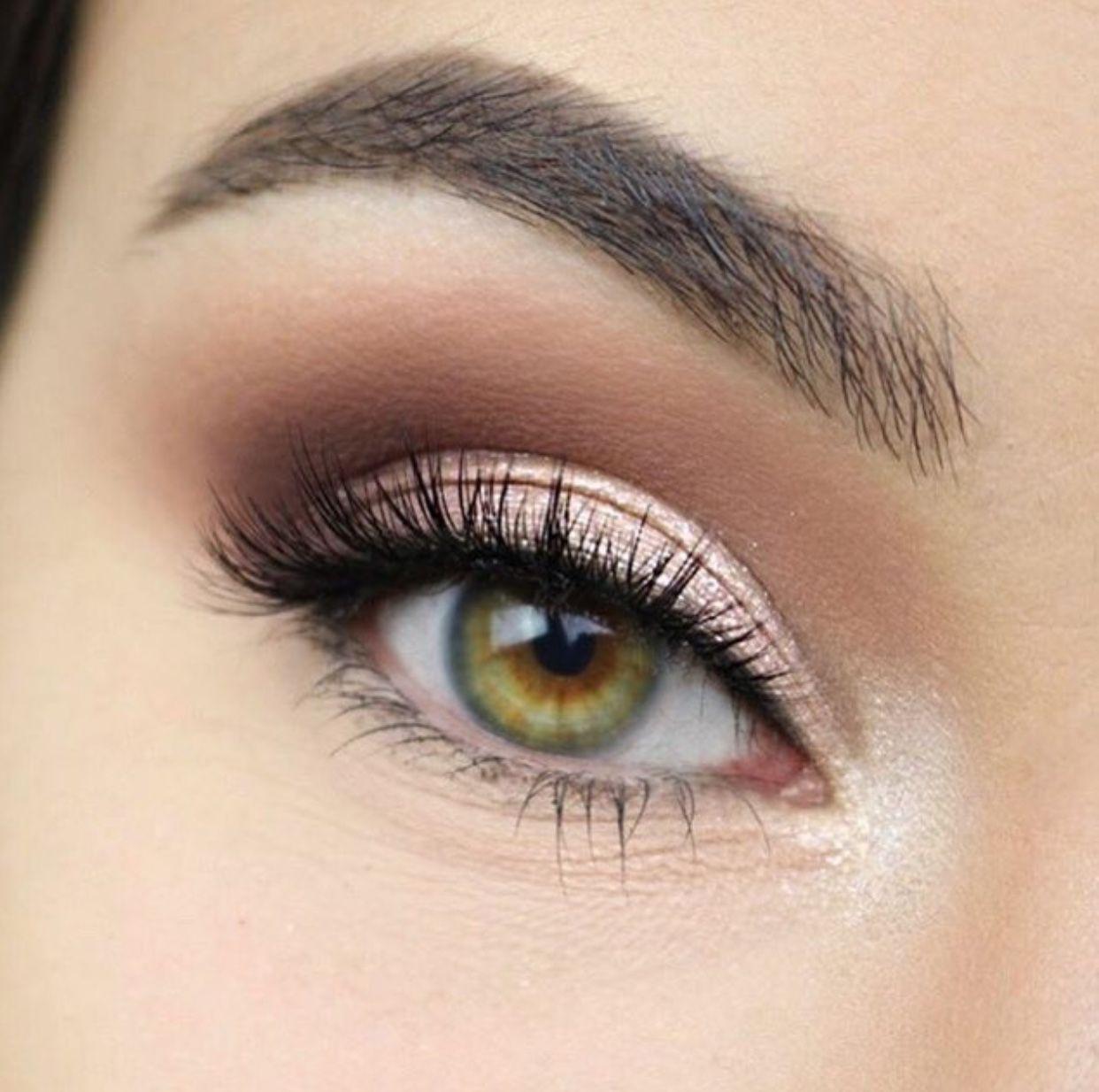 EyeMakeupGlitter Hazel eye makeup, Bridesmaid makeup