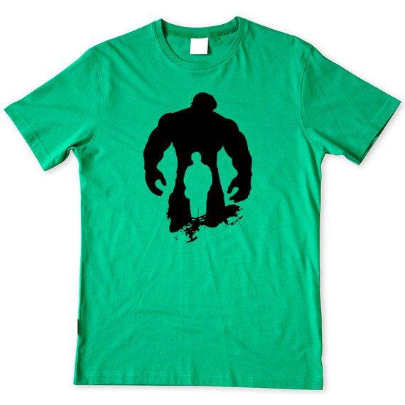 Incredible Hulk Shirt Quot Hulk Silhouette Quot Mens Tee Athletic Fit Hulk Shirt Marvel Tshirt Mens Tees