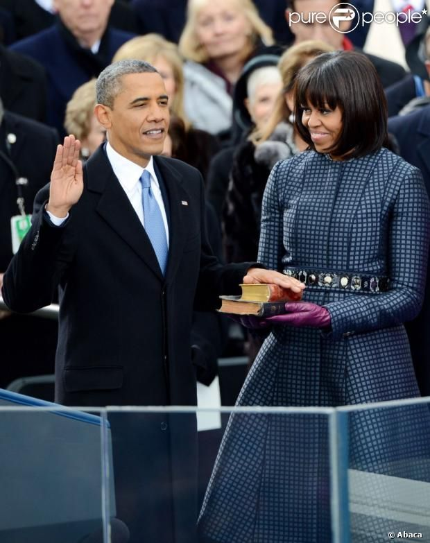 President Barack Obama First Lady Michelle Obama During His