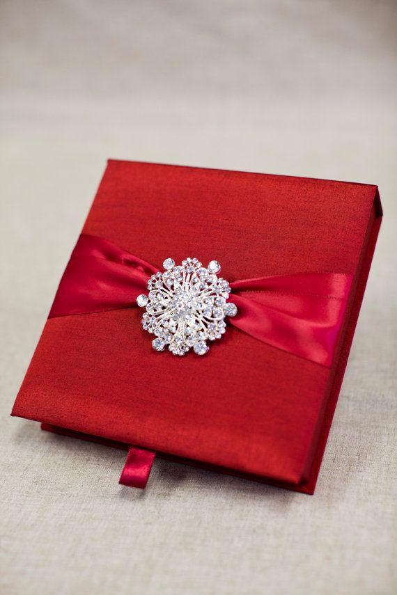 silk box wedding invitations indian%0A Wedding Invitation Silk Fabric Box     Silk by tangedesign