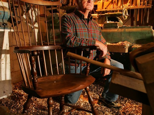 Newark man specializes in handcrafted Windsor chairs