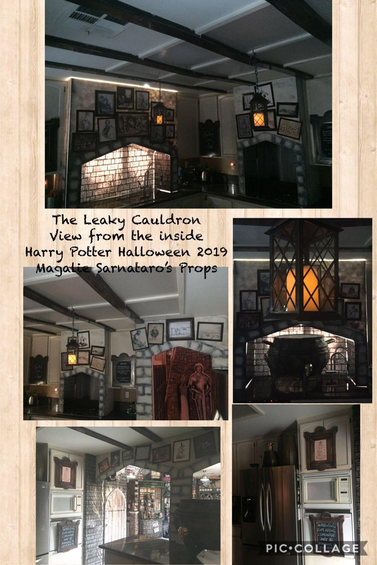Leaky Cauldron Harry Potter Magalie Sarnataro S Props Harry Potter Halloween Leaky Cauldron Halloween 2019