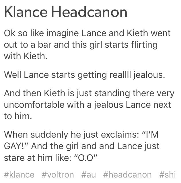 Klance headcanon - Credits: autumn-in-summer (Tumblr ) | voltron