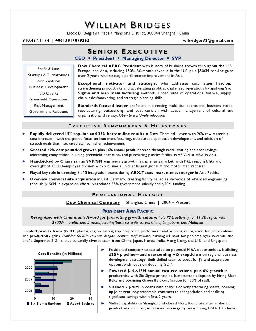 Global International Ceo Resume Sample Page 1 Resume Writer Executive Resume Resume Examples