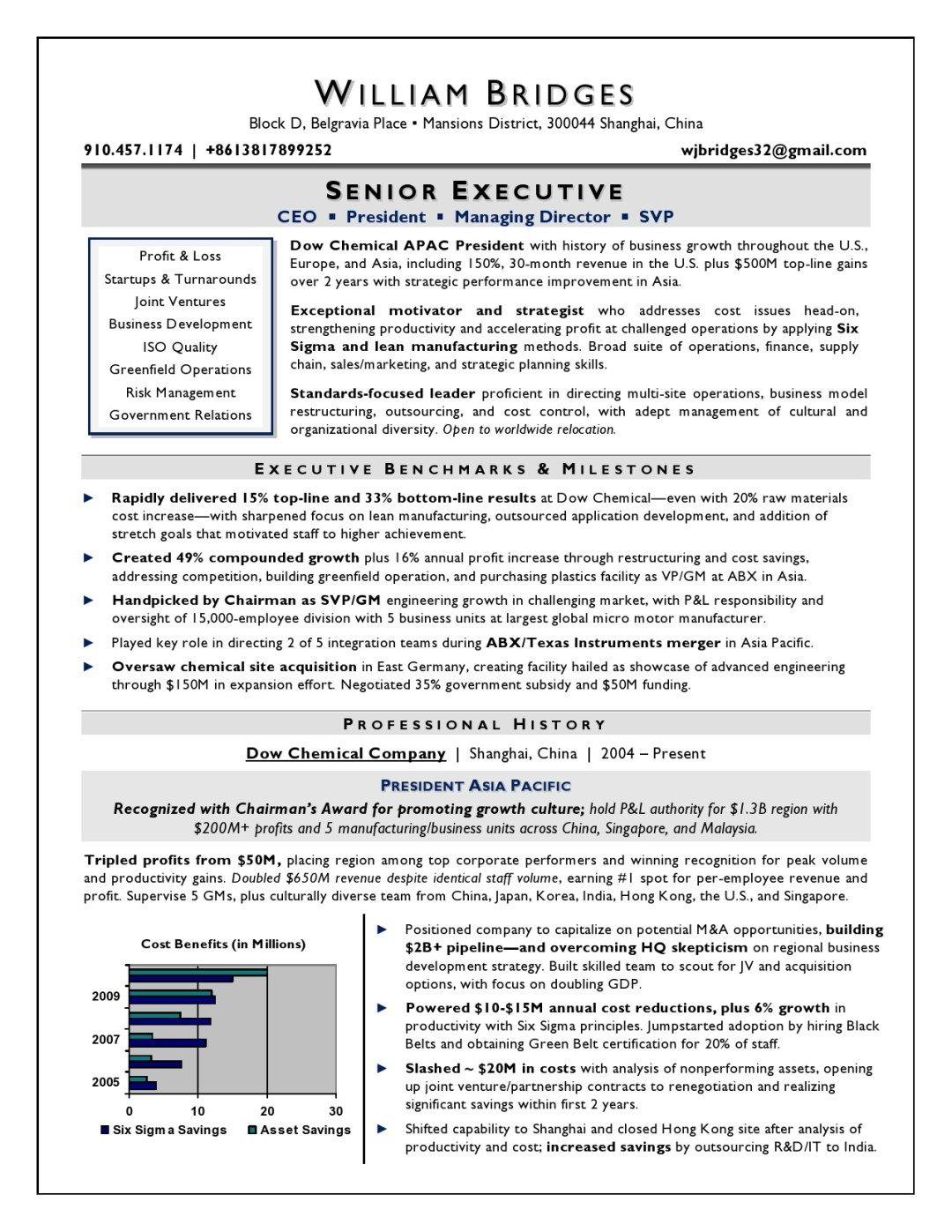 Global International Ceo Resume Sample Page 1 Resume Writer Executive Resume Resume Examples