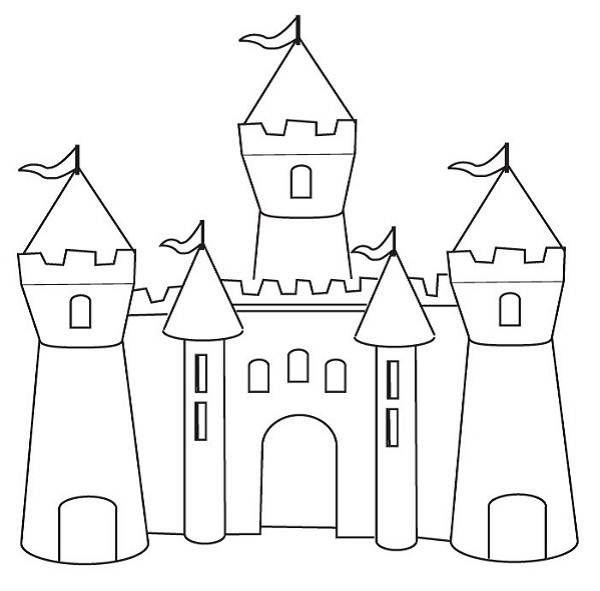 castle coloring pages for patterns pinterest chateau