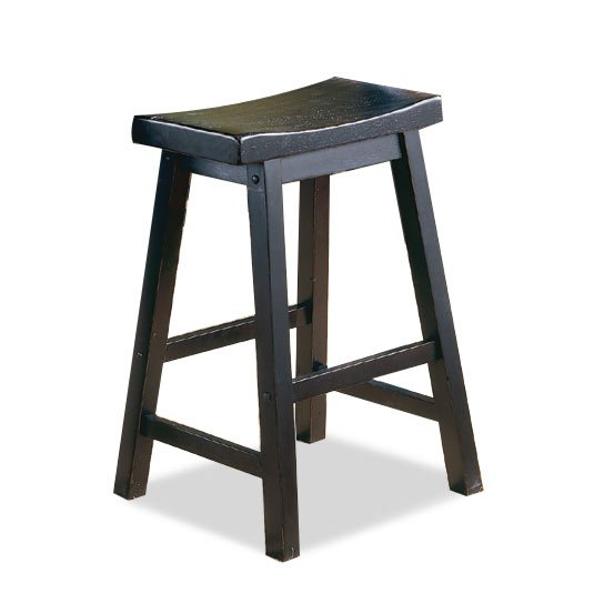 Black And Brown 24 Inch Saddle Counter Height Stool Bar Stools