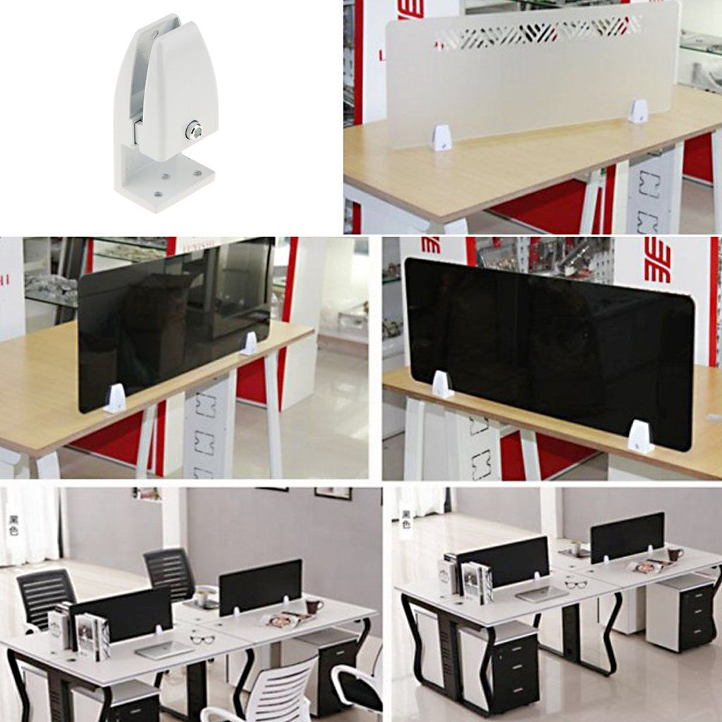 Magideal 2 Pcs Office Partition Support Desk Divider Privacy Screen Panel Clamps Clips 2 Sizes Click Image To Assess Mo In 2020 Desk Dividers Office Partition Desk