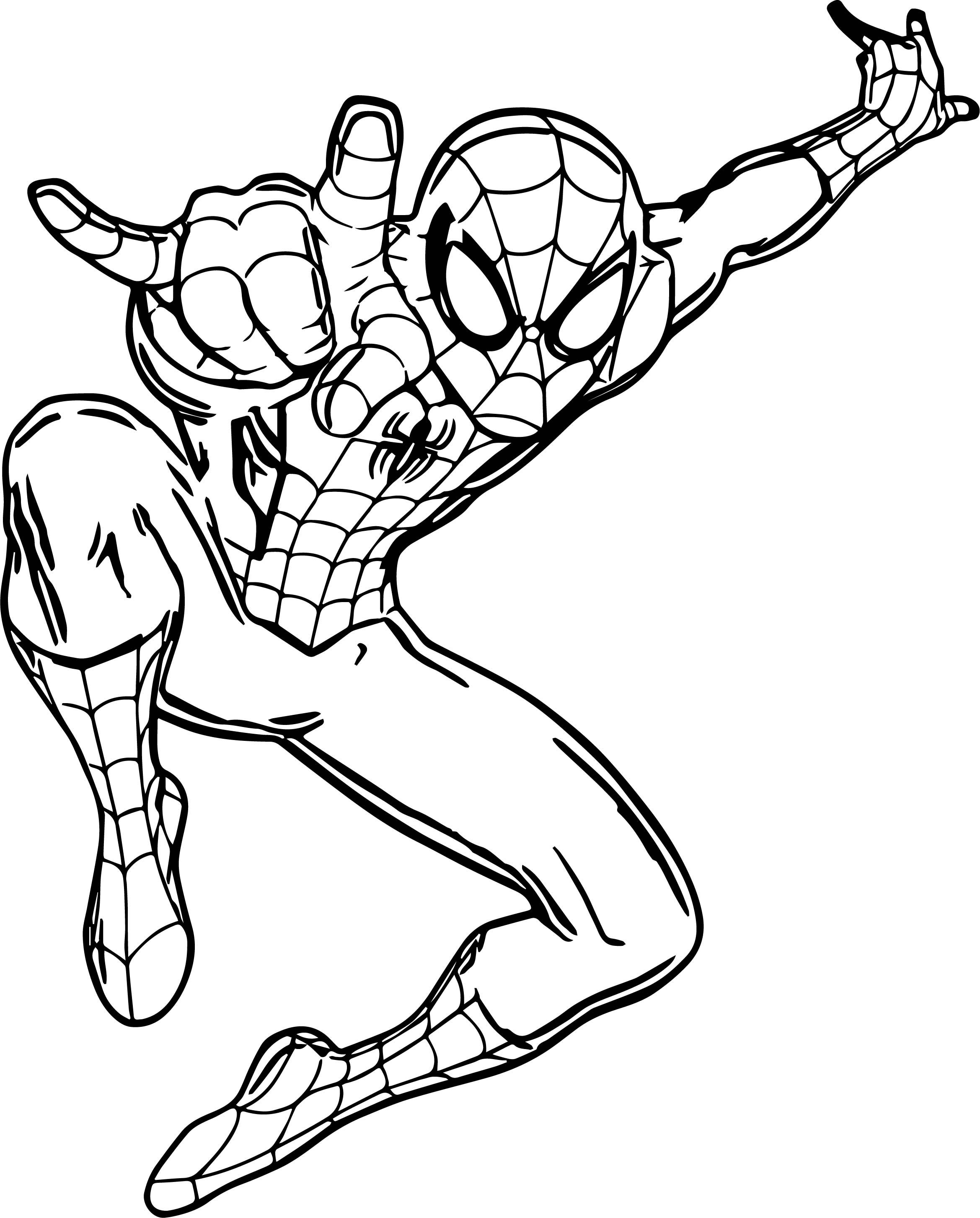 Awesome Ultimate Spider Man Giant Wall Decal Coloring Page