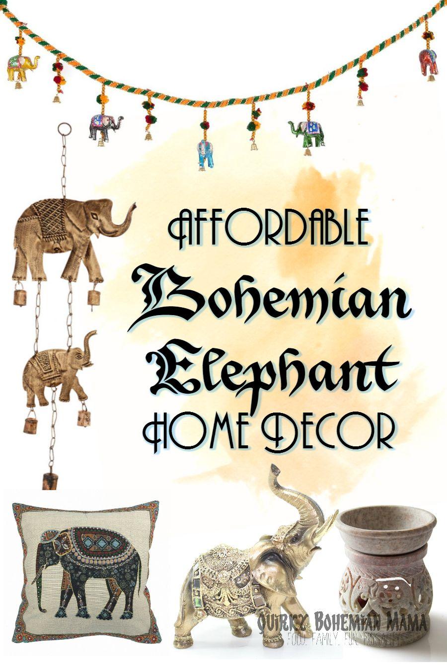 Quirky Bohemian Mama: Affordable Bohemian Elephant Home Decor {Boho  Bohemian Hippie Home Decor Under$20}