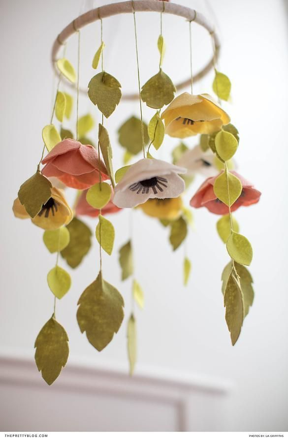 How To Make This Fabulous Felt Flower Mobile Flower