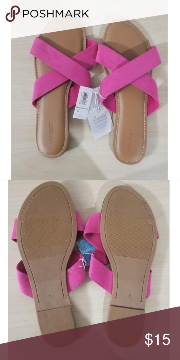 old navy pink criss cross sandals