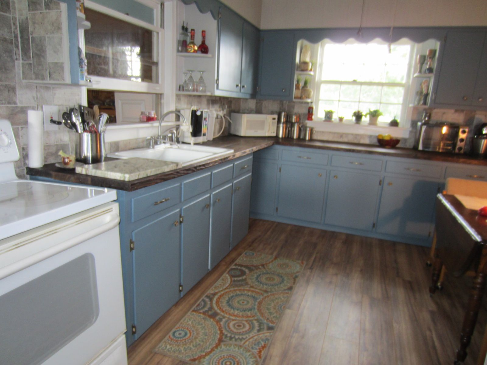 Painted Kitchen With Behr Catalina Coast Did It Myself Kitchen Kitchen Reno Kitchen Paint